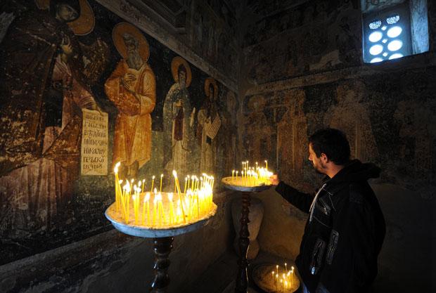 manastir- sveće
