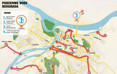 visnjicka banja beograd mapa EVO ZAŠTO ZGRADE TONU U BEOGRADU? Ispod grada teče 9 reka, potoka  visnjicka banja beograd mapa