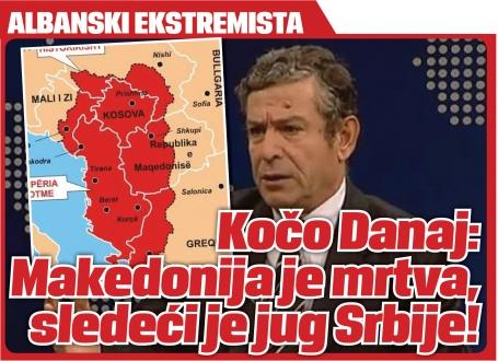 Albanski političar, Kočo Danaj: Došlo je vreme za ujedinjenje Albanaca!