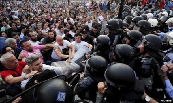 makedonija- protesti- demonstracije- policija