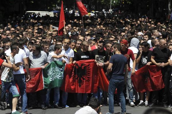 albanci- protest- demonstracije