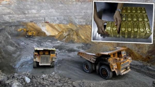 zlato- iskopavanja- rudnik- kamioni- bageri