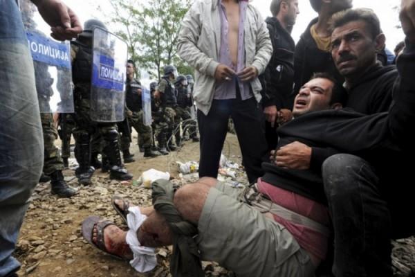migranti- azilanti- policija