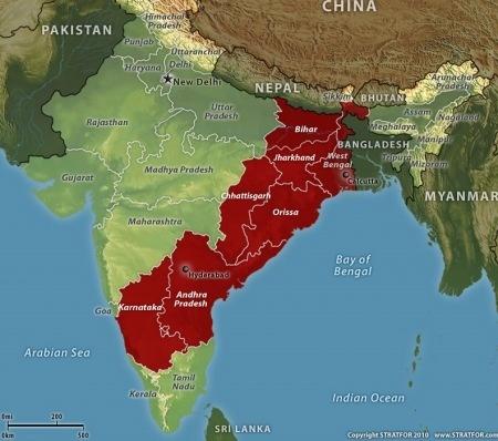 indija- komunisti- mapa