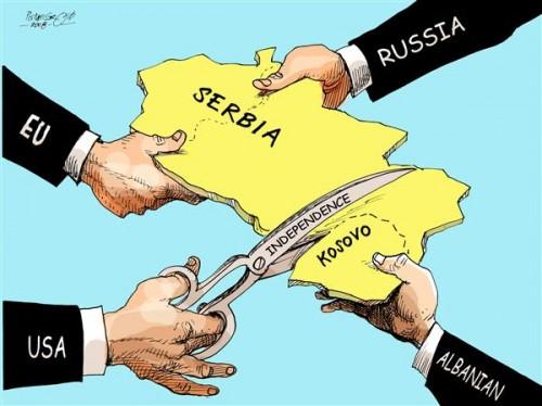srbija- kosovo- mapa