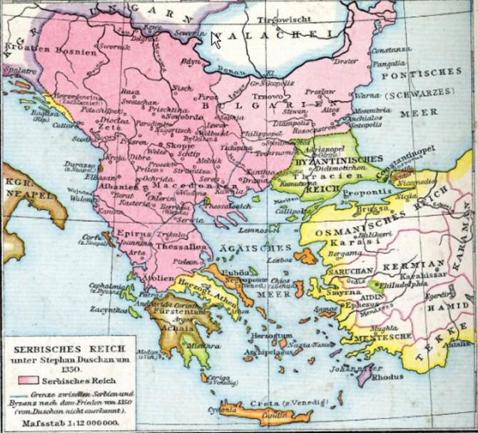 dusanovo carstvo mapa PRAVE GRANICE DUŠANOVOG CARSTVA: NEMOJTE DA VAS LAŽU, OVO JE  dusanovo carstvo mapa