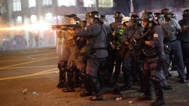 brazil- policija- protesti