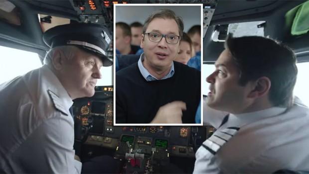 HIT DECENIJE- Piloti se tuku, avion pada, putnici vrište: OVO JE VUČIĆEV NOVI SPOT u kampanji za predsednika! (VIDEO)