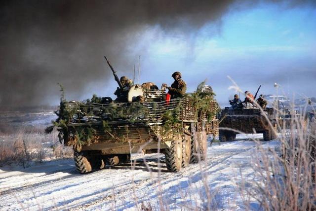ukrajina- vojnici- sneg- zima- zaprega