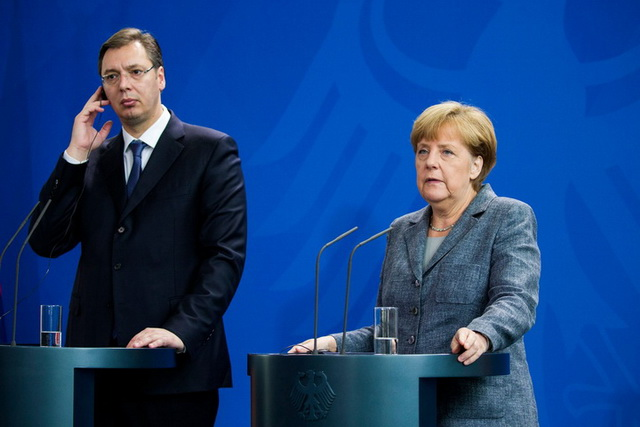 Bundeskanzlerin Merkel lädt kurzfristig den serbischen Ministerpräsidenten ins Kanzleramt Berlin ein | German Chancellor Merkel invites the Serbian Prime Minister at short notice at the Chancellery in Berlin