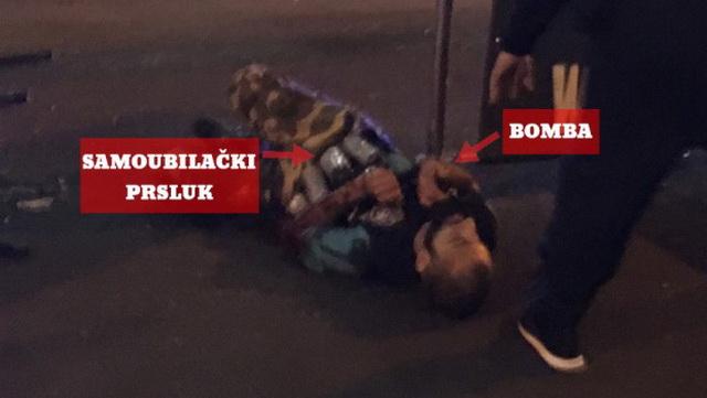 Poslednje fotografije napadača: Uhvaćeni terorista pred smrt držao bombu i krvario (VIDEO)