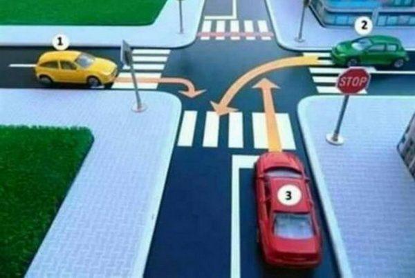SAMO 10 POSTO VOZAČA ZNA REŠENJE! Kojim redom idu automobili na ovoj raskrsnici?