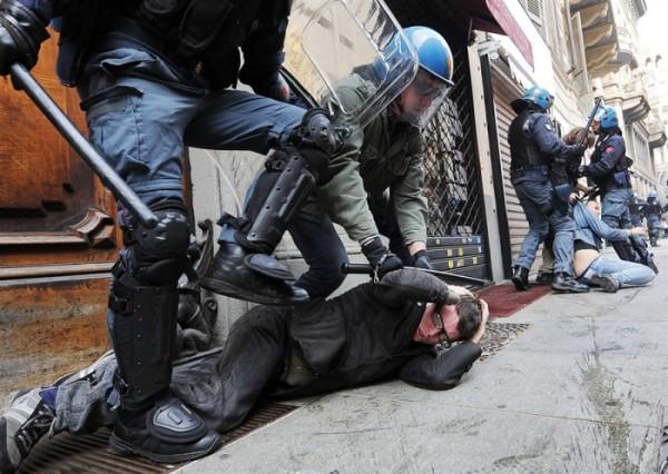 policija- italija- protesti 1